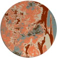 rug #1318999 | round orange abstract rug