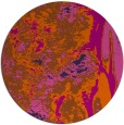 rug #1319063 | round red-orange abstract rug