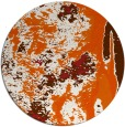 rug #1319067 | round red-orange abstract rug