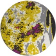 rug #1319107 | round yellow abstract rug