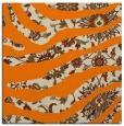 rug #1319515 | square orange damask rug