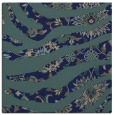 rug #1319555 | square blue-green animal rug
