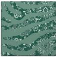 rug #1319571 | square blue-green damask rug