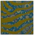 rug #1319591 | square blue-green damask rug