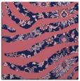rug #1319607 | square blue-violet animal rug