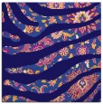 rug #1319615 | square blue-violet damask rug