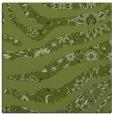 rug #1319643 | square green damask rug