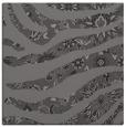 rug #1319671 | square mid-brown damask rug