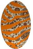 rug #1319883 | oval abstract rug