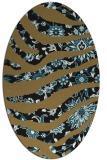 rug #1319911   oval brown damask rug