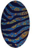 rug #1319915 | oval blue animal rug