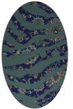 rug #1319923 | oval blue animal rug