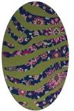 rug #1319927   oval green animal rug