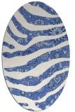rug #1319931 | oval blue animal rug