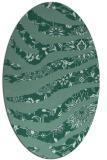 rug #1319939   oval blue-green natural rug