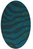 rug #1319947 | oval blue abstract rug