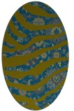 rug #1319959 | oval blue-green abstract rug