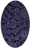 rug #1319967   oval blue-violet animal rug