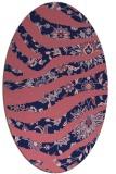rug #1319975 | oval blue-violet animal rug