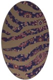 rug #1319987 | oval blue-violet animal rug