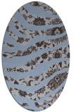rug #1319991 | oval blue-violet animal rug