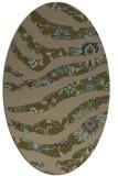 rug #1319995 | oval mid-brown natural rug