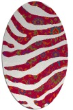 rug #1319999 | oval red animal rug