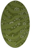 rug #1320011 | oval green abstract rug