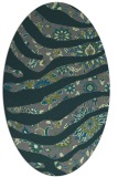 rug #1320015 | oval green abstract rug
