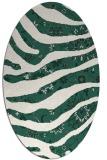 rug #1320019 | oval green damask rug