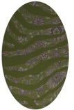 rug #1320023 | oval green animal rug