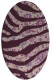rug #1320051 | oval pink animal rug