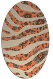 rug #1320103   oval orange damask rug