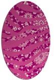 rug #1320111 | oval pink natural rug