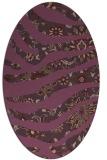 rug #1320127 | oval purple animal rug