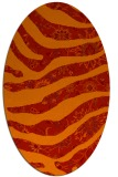 rug #1320147 | oval red animal rug