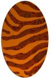 rug #1320159 | oval red-orange damask rug