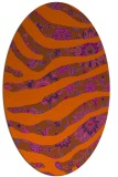 rug #1320167 | oval red-orange abstract rug