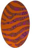 rug #1320167 | oval red-orange rug