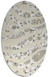 rug #1320191 | oval beige abstract rug