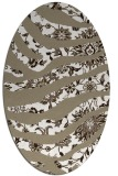 rug #1320199 | oval white abstract rug
