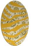 rug #1320203 | oval yellow animal rug