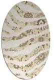rug #1320207 | oval yellow natural rug