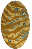 rug #1320215 | oval yellow abstract rug