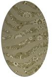 rug #1320227   oval light-green animal rug