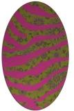 rug #1320231 | oval pink animal rug