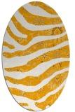 rug #1320239 | oval light-orange rug