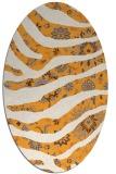 rug #1320247 | oval light-orange animal rug
