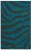 rug #1320315 |  blue-green damask rug