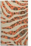 rug #1320471 |  orange abstract rug